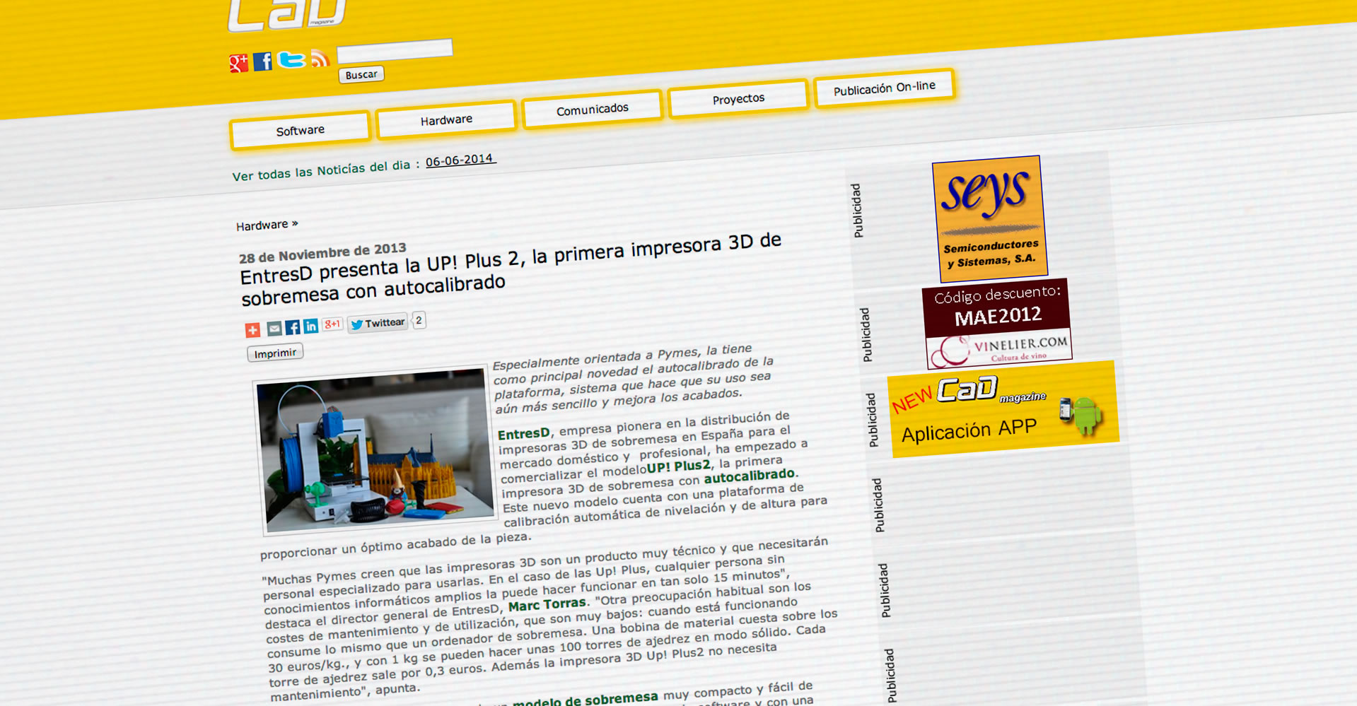 Entresd presenta la up plus 2 entresd blog for Primera impresora 3d