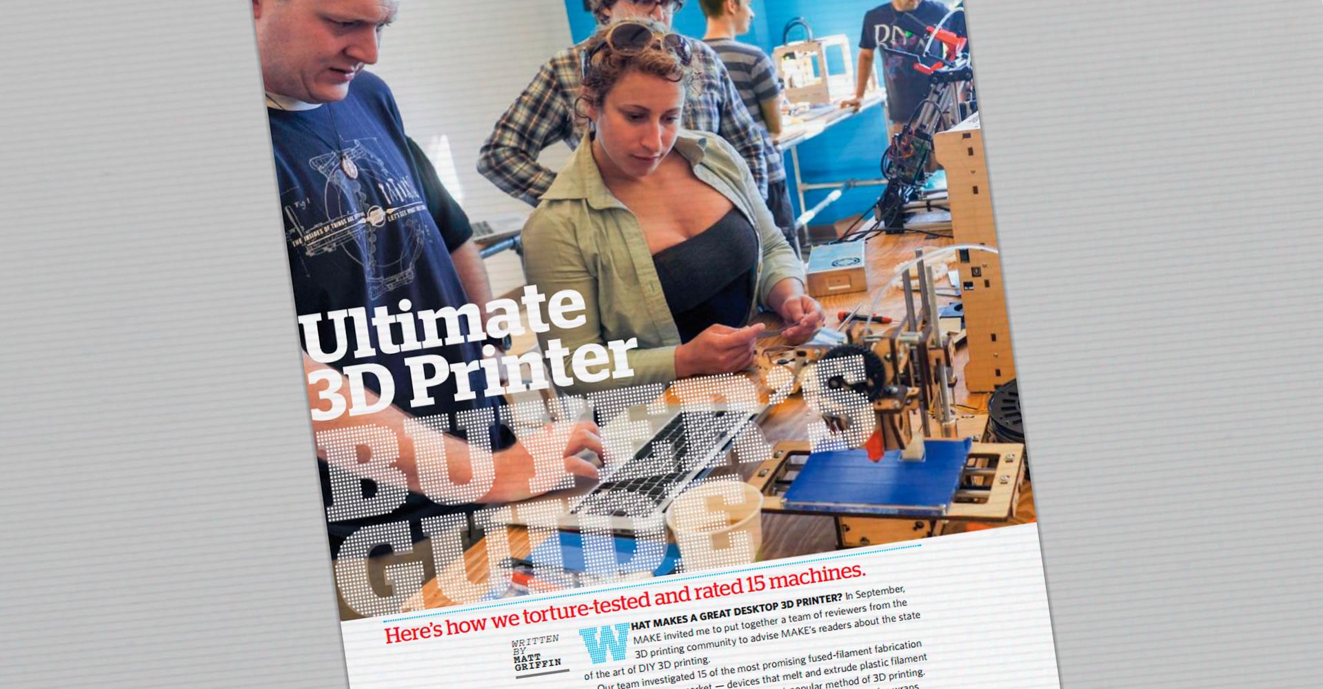 Prueba a fondo de las 15 impresoras más vendidas en USA (ganadora: UP Plus). Make Magazine