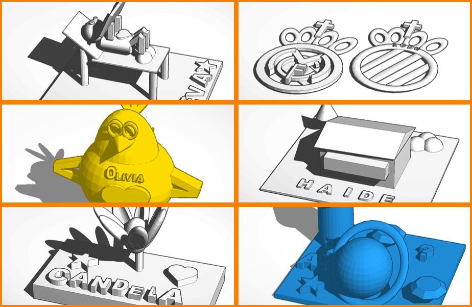 Algunas de las piezas que han modelado nuestros pequeños artistas