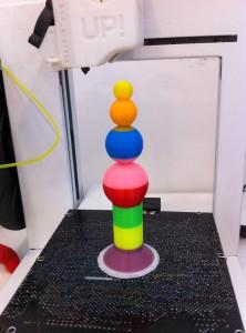 Nuestro diseño recién salido de la impresora