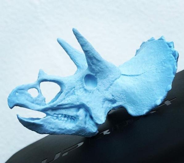 Cabeza dinosaurio 3D